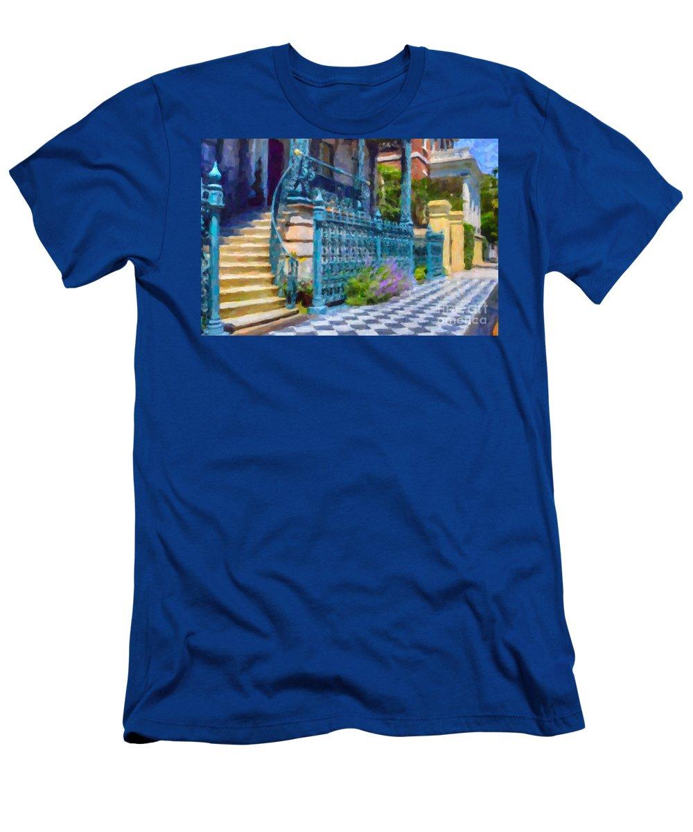 John Rutledge House Inn Men's T-Shirt (Athletic Fit) featuring the digital art Rutledge House Inn by Dale Powell
