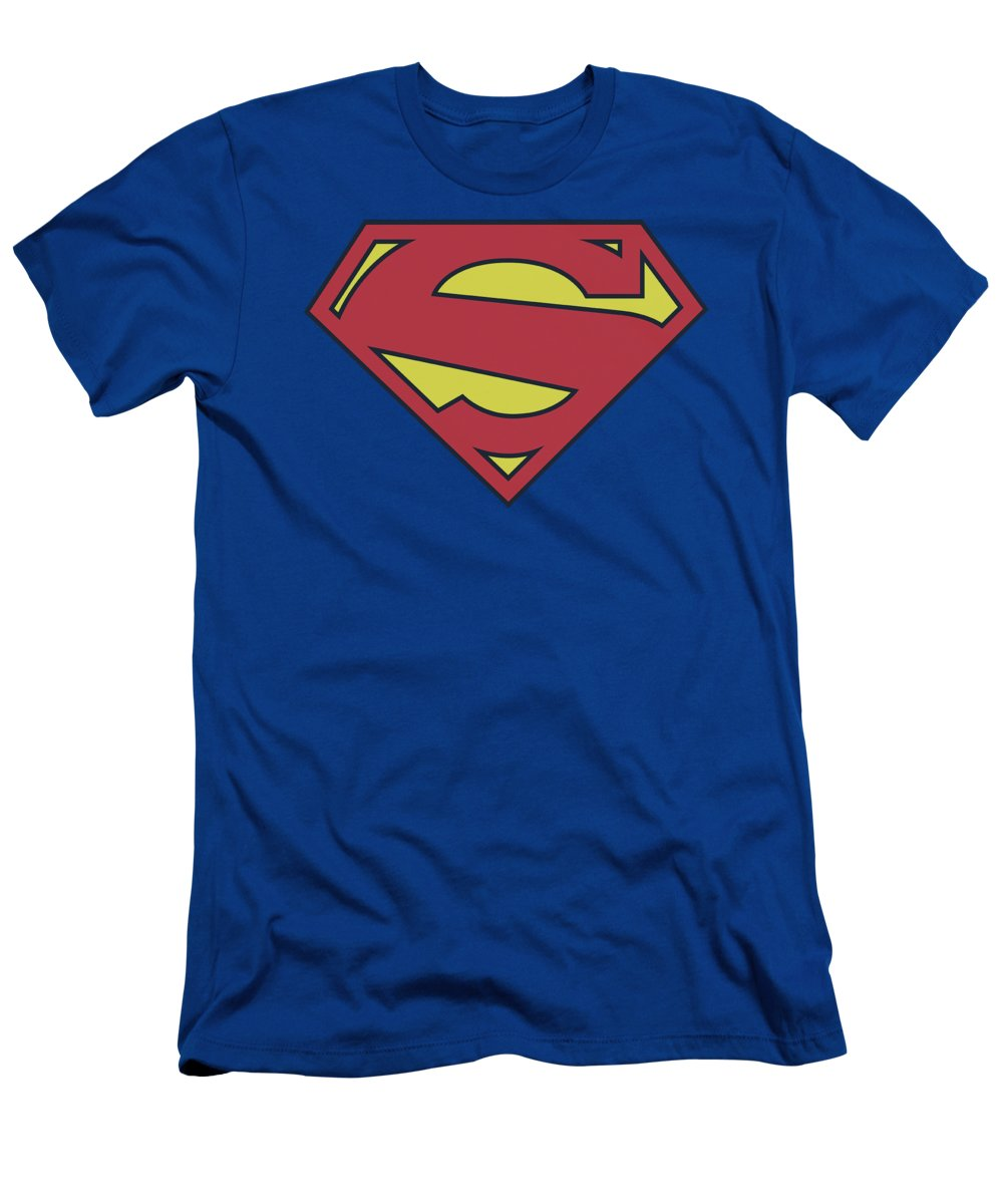 Superman T-Shirt featuring the digital art Superman - New 52 Shield by Brand A