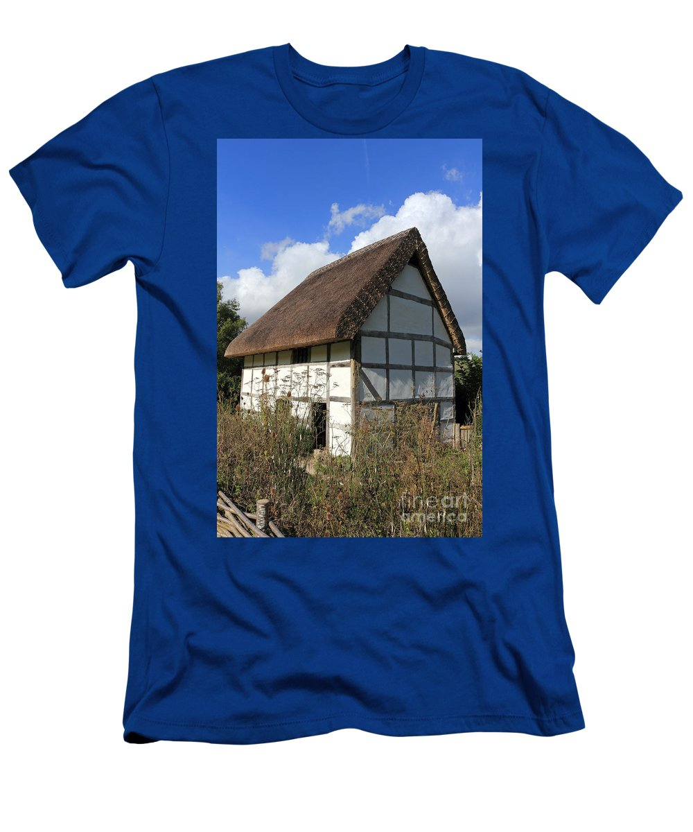 Traditional Cottage Sussex Uk Men's T-Shirt (Athletic Fit) featuring the photograph Traditional Cottage Sussex Uk by Julia Gavin