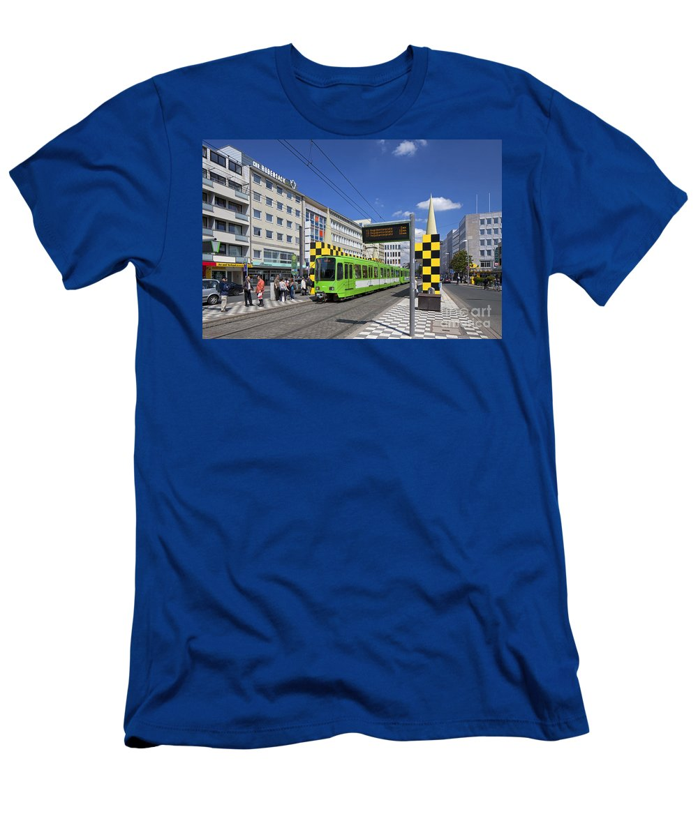 Tramstop Men's T-Shirt (Athletic Fit) featuring the photograph 120118p266 by Arterra Picture Library