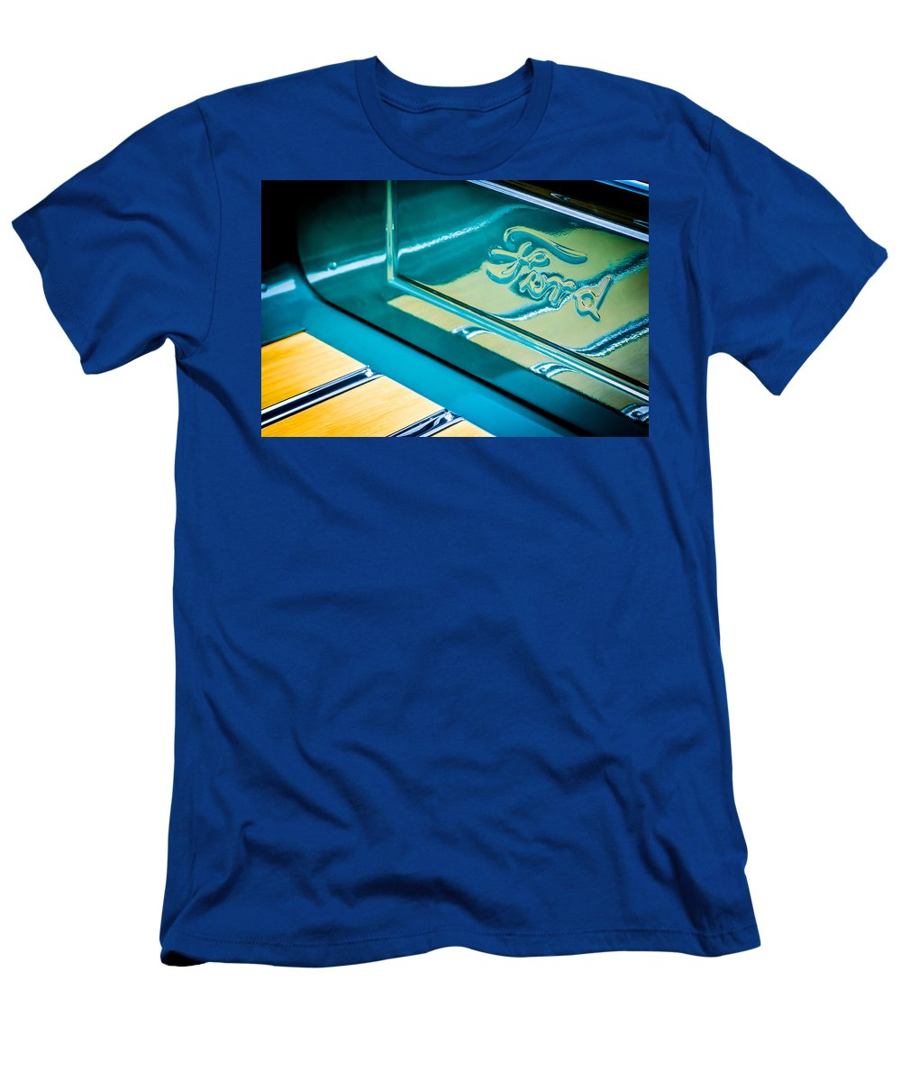 1929 Ford Roadster Pickup Truck Emblem Men's T-Shirt (Athletic Fit) featuring the photograph 1929 Ford Roadster Pickup Truck -0158c by Jill Reger