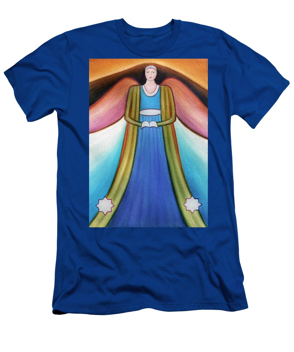 Angel Men's T-Shirt (Athletic Fit) featuring the painting Angel Of Destiny by Judith Chantler