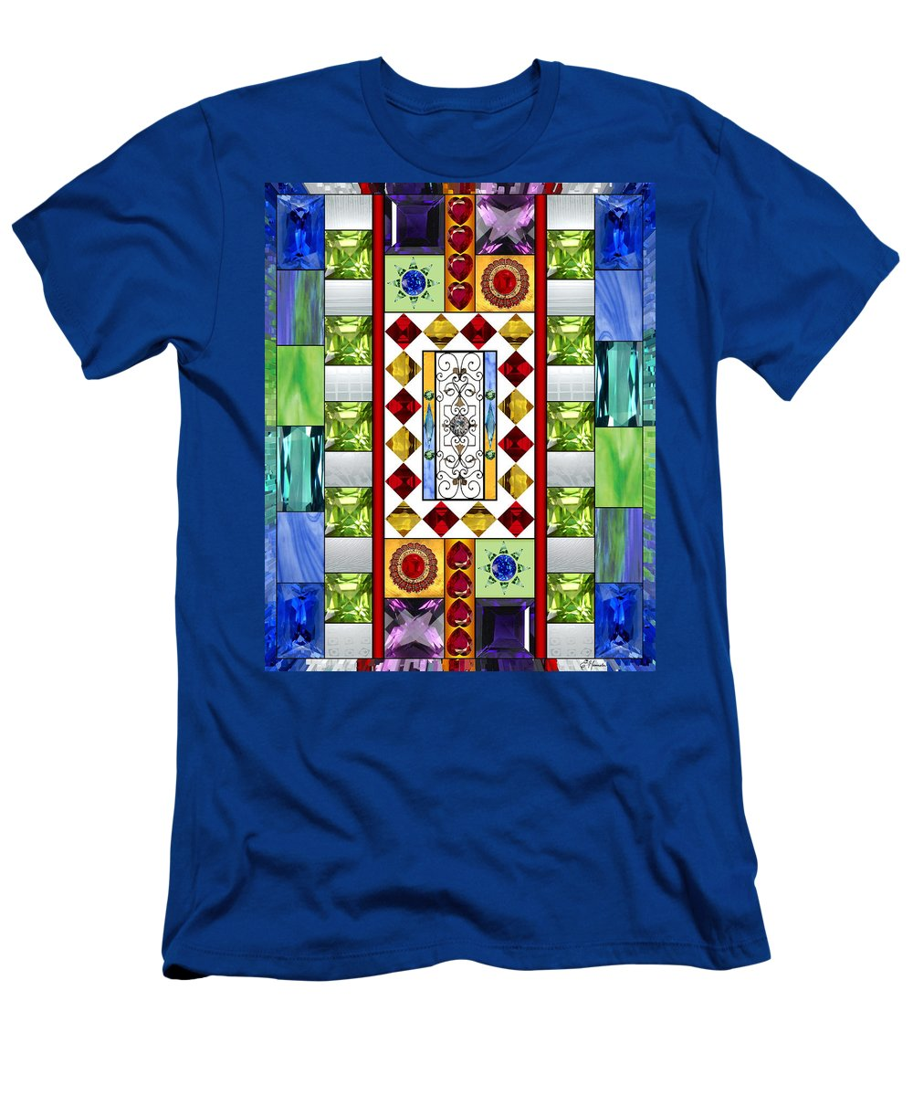 Bejeweled Men's T-Shirt (Athletic Fit) featuring the mixed media Bejeweled 1 by Ellen Henneke