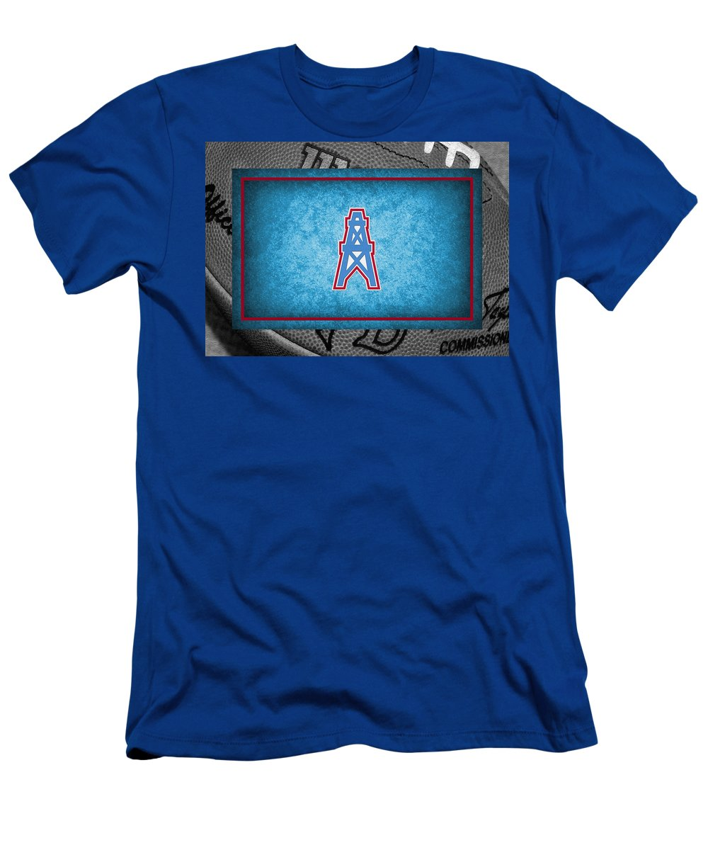Oilers Men s T-Shirt (Athletic Fit) featuring the photograph Houston Oilers  by Joe 0afd1b984