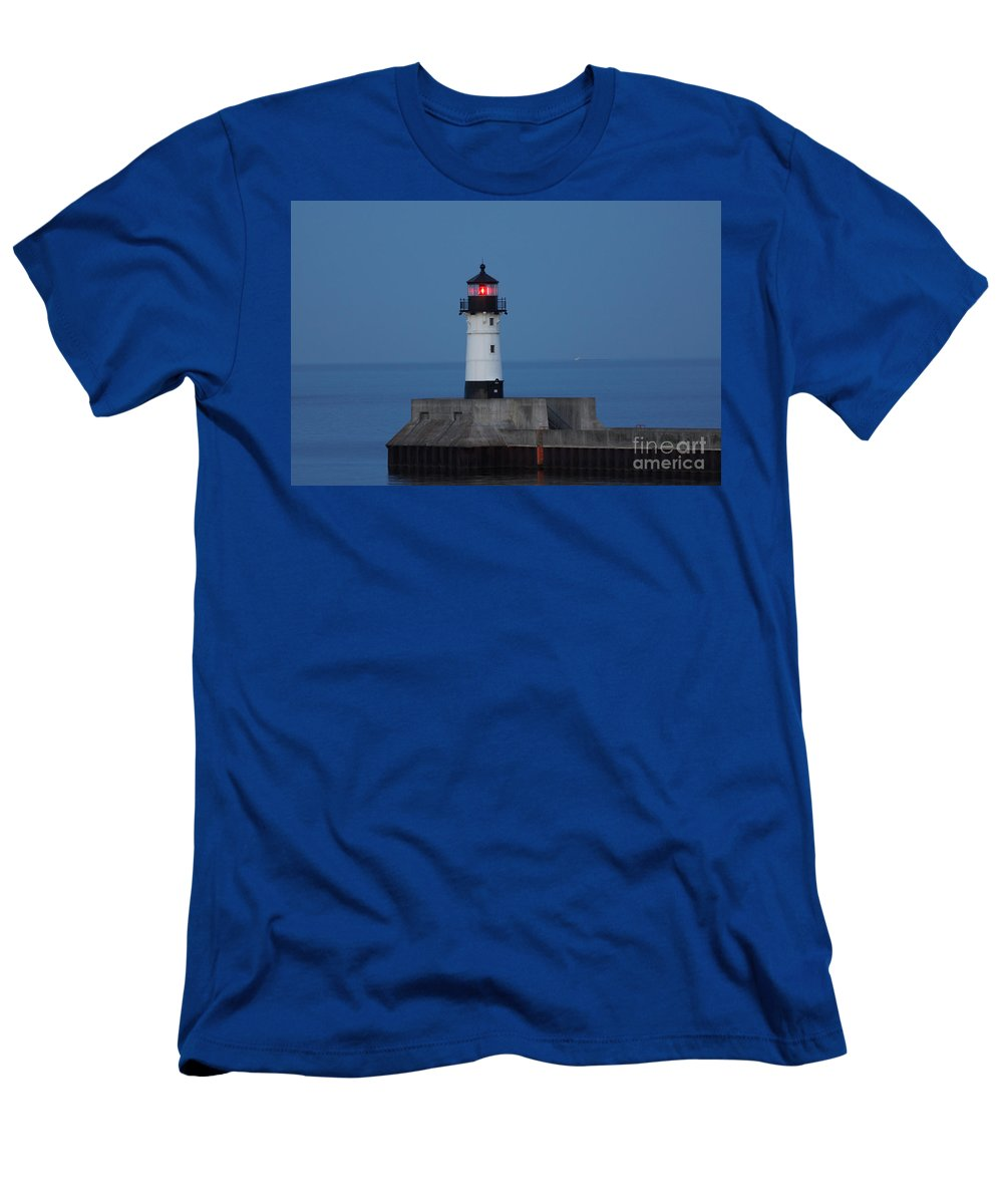 Lighthouses Men's T-Shirt (Athletic Fit) featuring the photograph Lights by Lori Tordsen