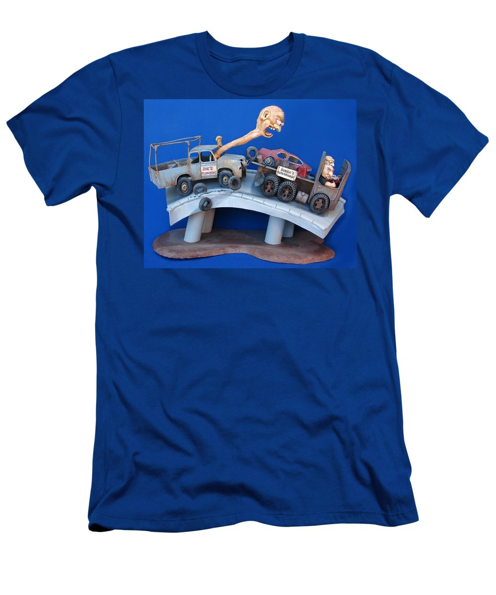 Pick Up Men's T-Shirt (Athletic Fit) featuring the sculpture Road Rage by Stuart Swartz