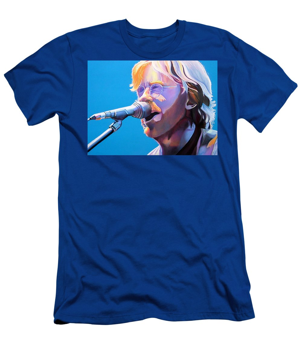 Phish Men's T-Shirt (Athletic Fit) featuring the drawing Trey Anastasio by Joshua Morton
