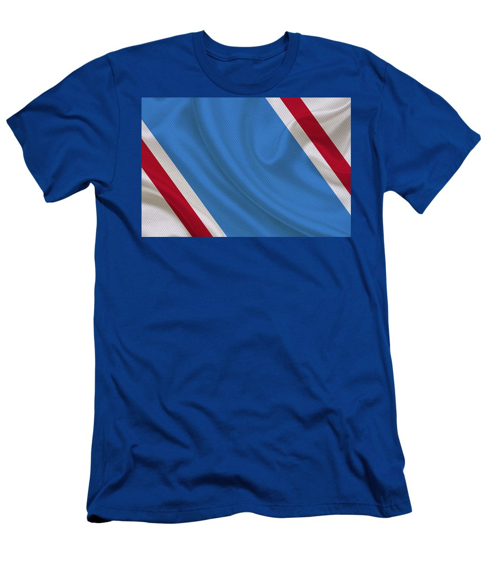 Oilers Men's T-Shirt (Athletic Fit) featuring the photograph Houston Oilers by Joe Hamilton