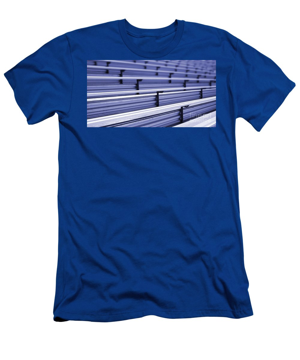 Stadium Men's T-Shirt (Athletic Fit) featuring the photograph Bleachers by Henrik Lehnerer