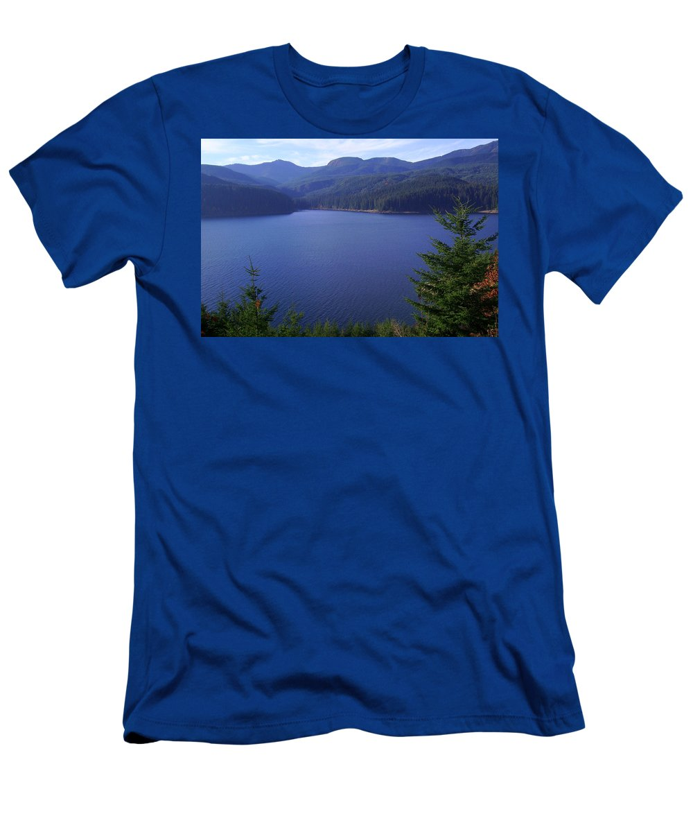 Bloom Men's T-Shirt (Athletic Fit) featuring the photograph Lakes 1 by J D Owen