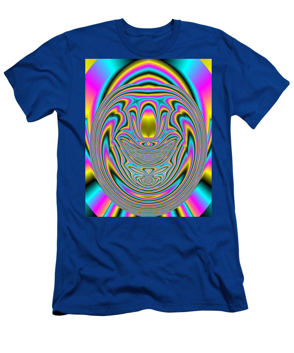 Abstract Men's T-Shirt (Athletic Fit) featuring the digital art 350 by John Holfinger