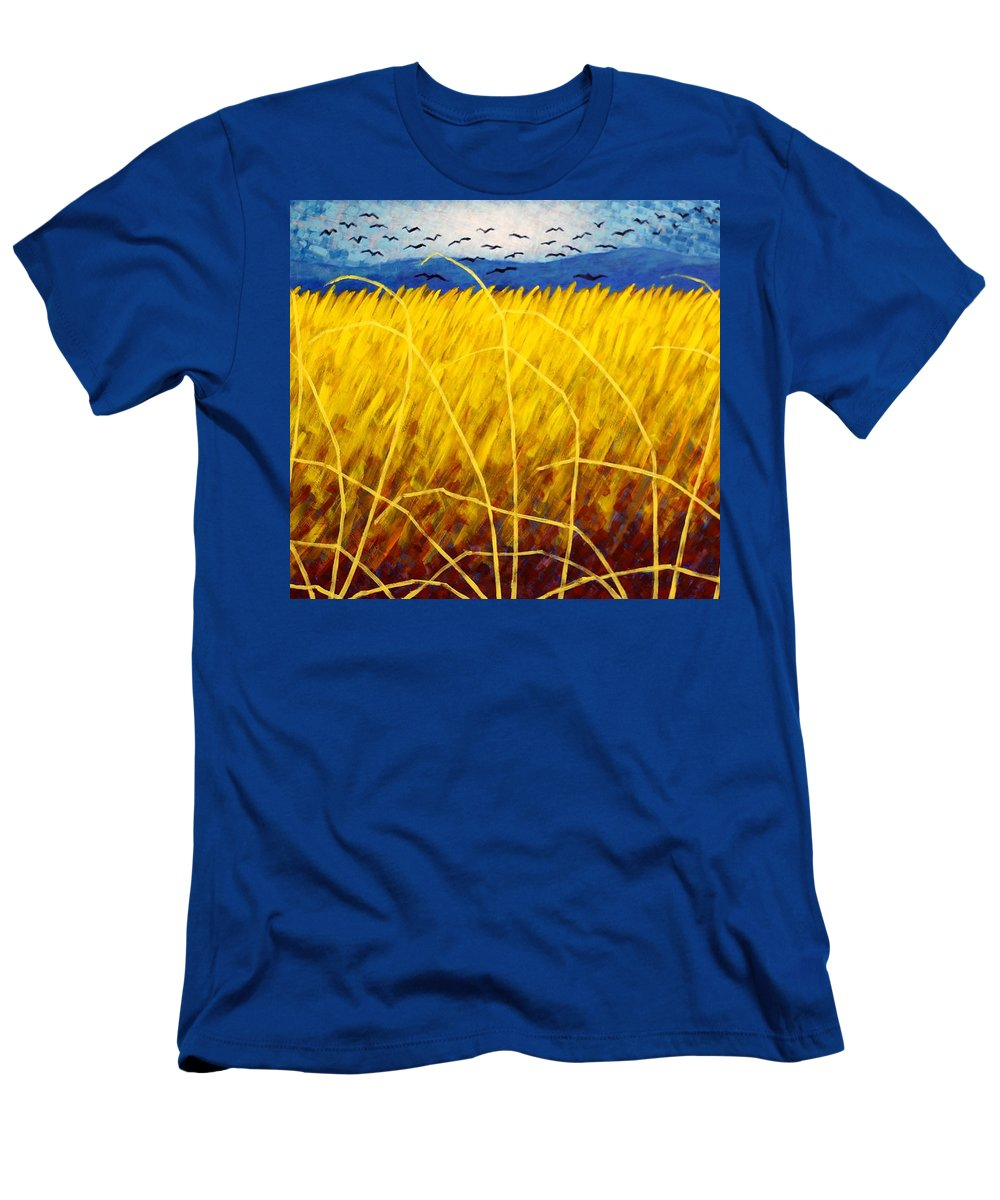 Acrylic Men's T-Shirt (Athletic Fit) featuring the painting Homage To Van Gogh by John Nolan