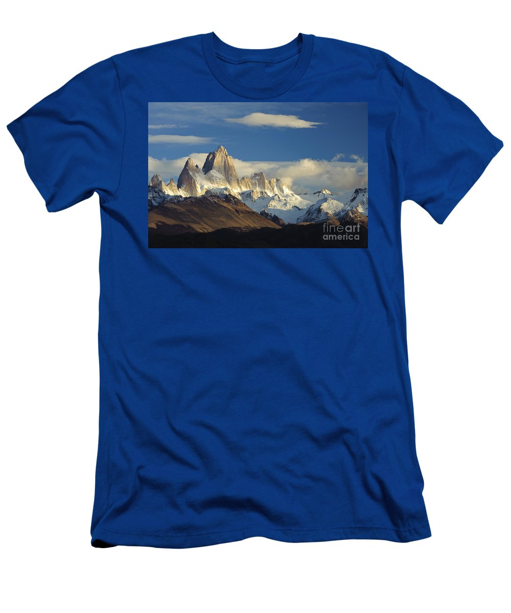 Argentina Men's T-Shirt (Athletic Fit) featuring the photograph Mount Fitzroy, Argentina by John Shaw
