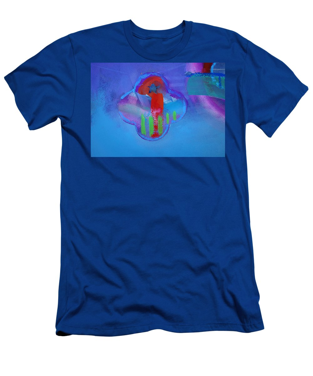 Texas Art Men's T-Shirt (Athletic Fit) featuring the painting One by Charles Stuart