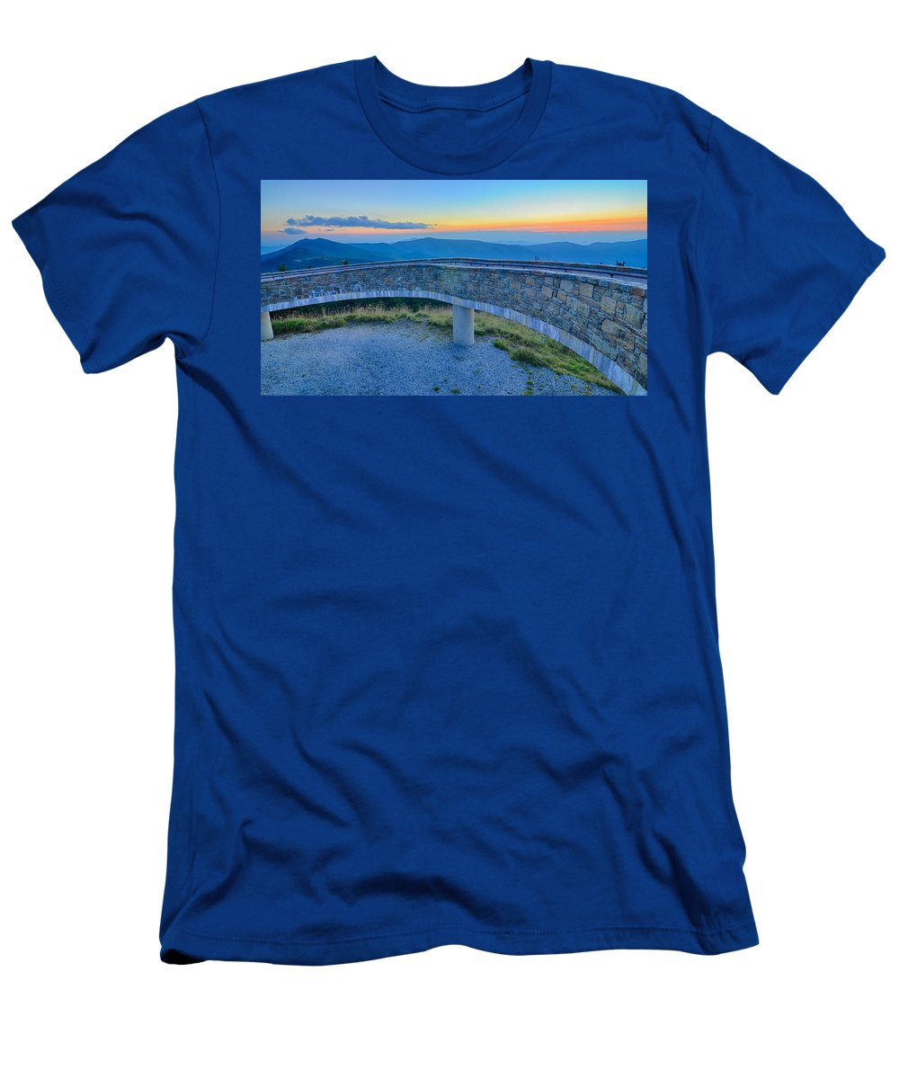 State Men's T-Shirt (Athletic Fit) featuring the photograph Top Of Mount Mitchell Before Sunset by Alex Grichenko