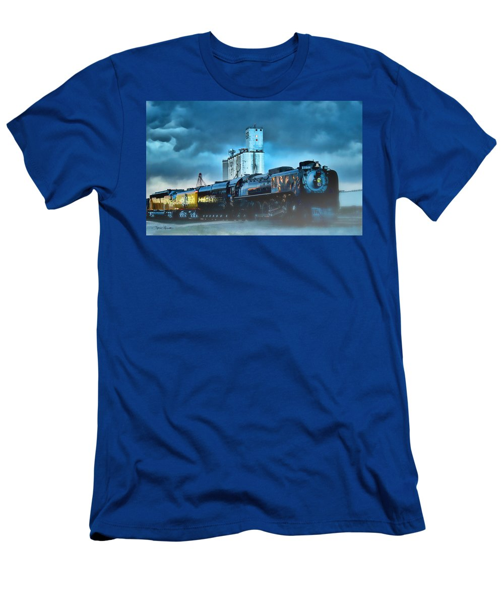 844 Men's T-Shirt (Athletic Fit) featuring the photograph 844 Night Train by Sylvia Thornton
