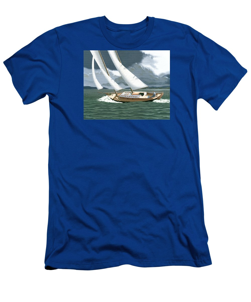 Gulf Islands T-Shirt featuring the painting A passing squall by Gary Giacomelli