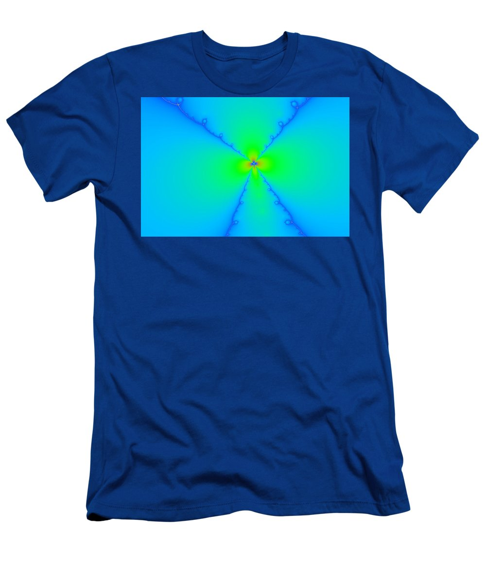 Abstract Men's T-Shirt (Athletic Fit) featuring the photograph A Wild Woven Flower by Jeff Swan