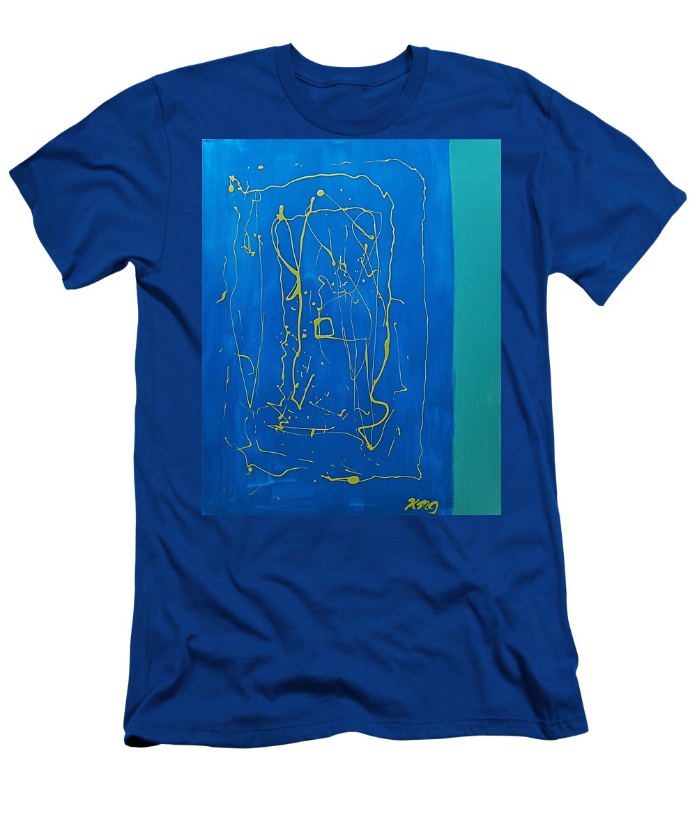 Abstract Men's T-Shirt (Athletic Fit) featuring the painting Abstract 2a by Kimberly Maxwell Grantier