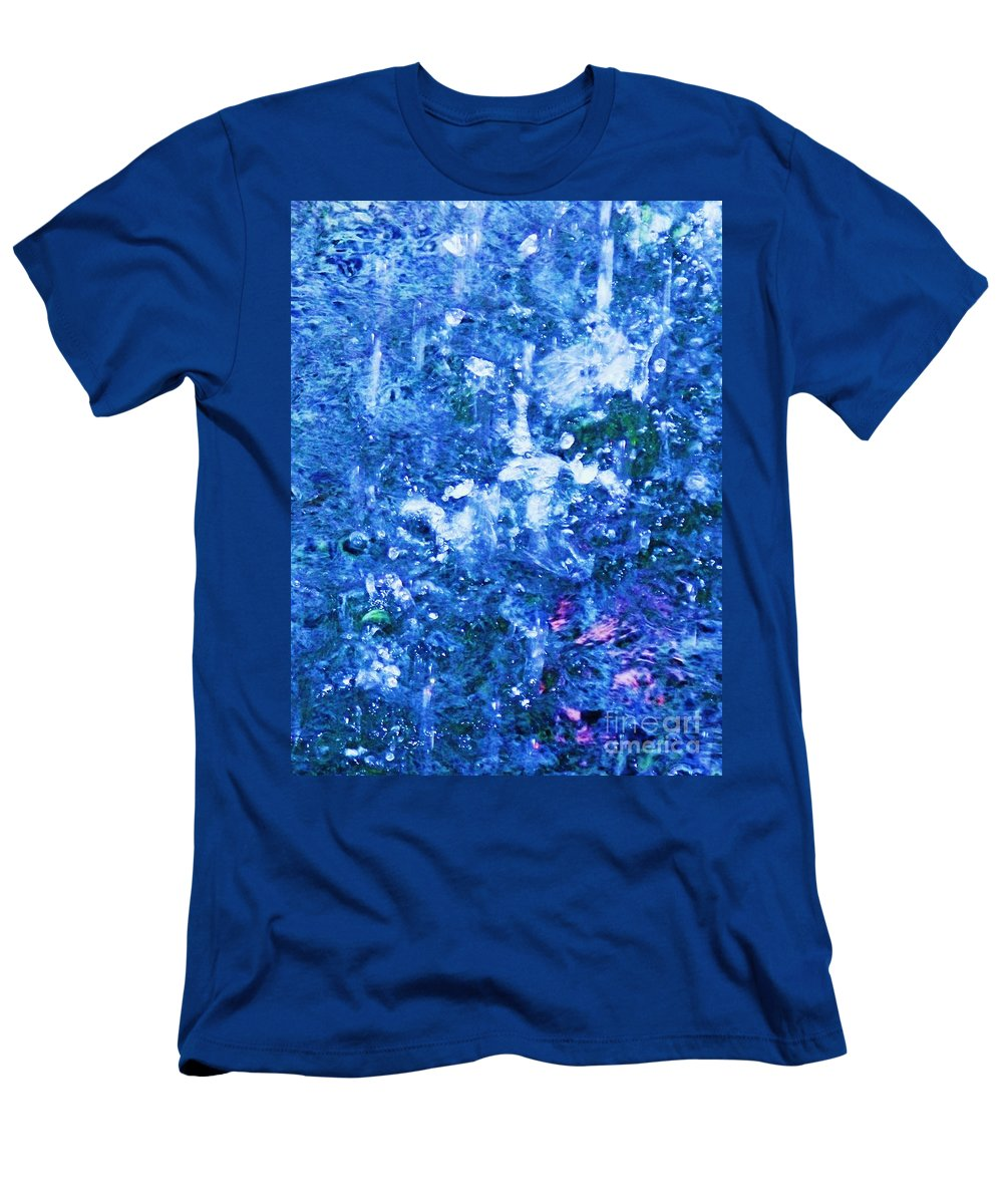 Abstract Men's T-Shirt (Athletic Fit) featuring the photograph Abstract Splashing Water by Eric Schiabor