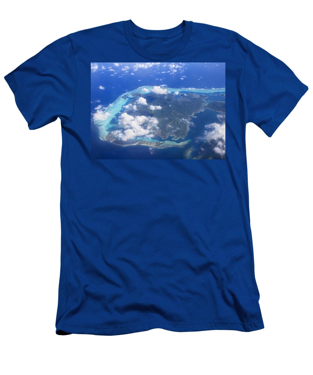Above Men's T-Shirt (Athletic Fit) featuring the photograph Aerial Over Atoll by M Swiet Productions