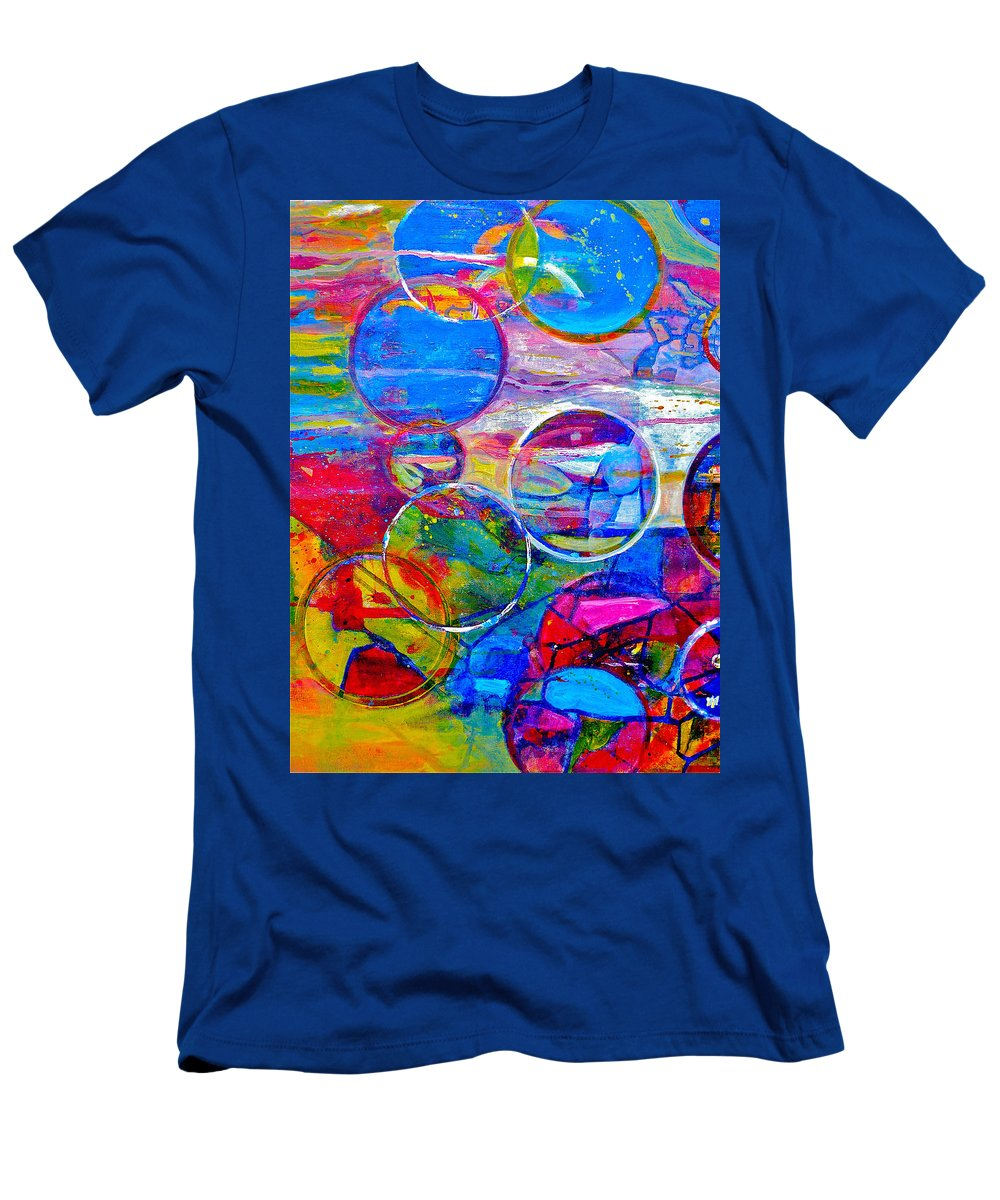 Abstract Men's T-Shirt (Athletic Fit) featuring the painting Against The Rain Vertical by Anna Ruzsan