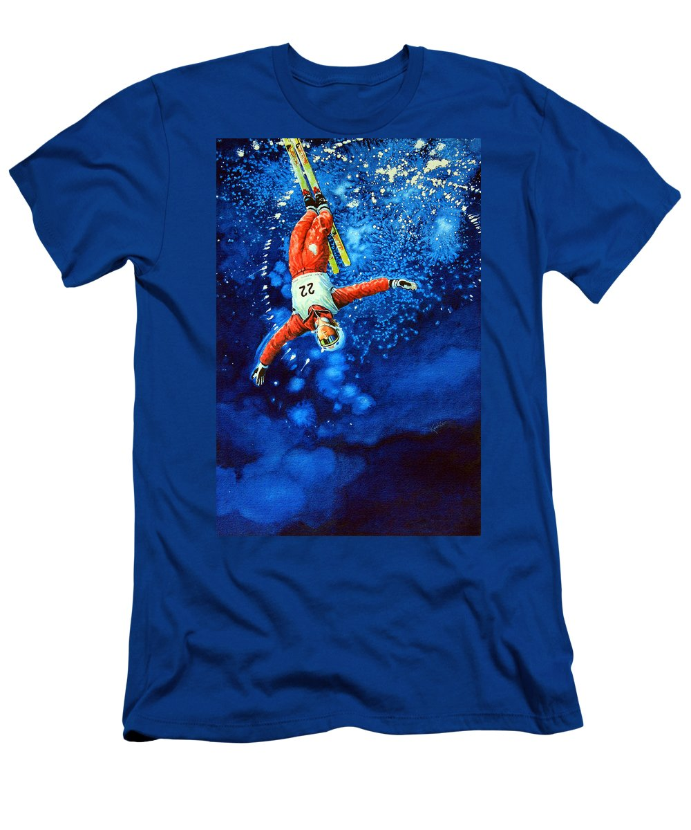 Sports Art Men's T-Shirt (Athletic Fit) featuring the painting Air Force by Hanne Lore Koehler