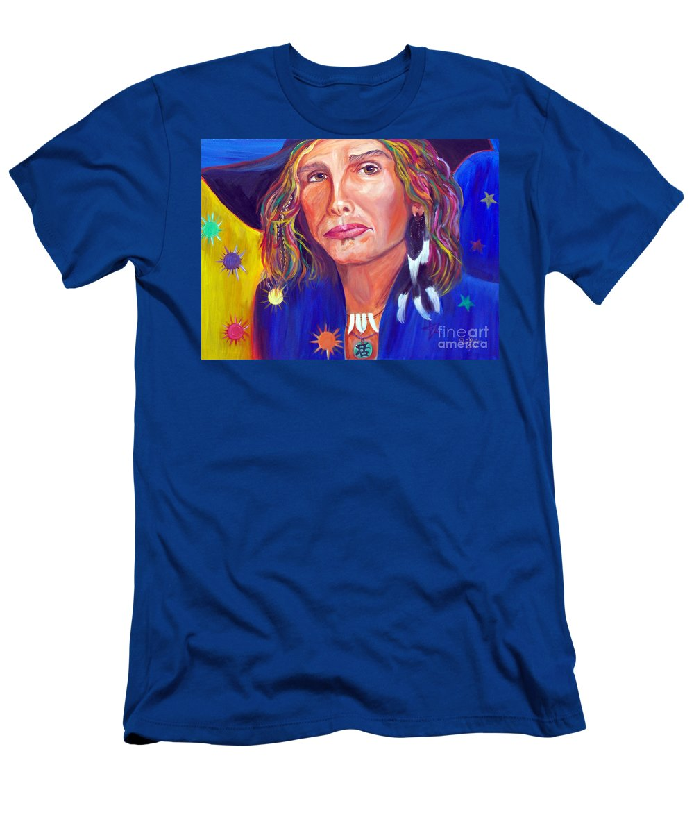 Steven Tyler Men's T-Shirt (Athletic Fit) featuring the painting Alive by To-Tam Gerwe