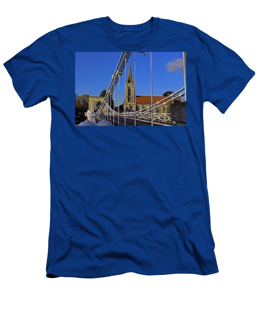 Marlow Men's T-Shirt (Athletic Fit) featuring the photograph All Saints Church by Tony Murtagh