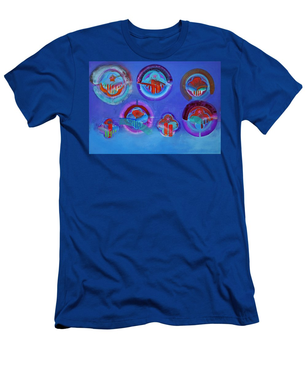 Texas Art Men's T-Shirt (Athletic Fit) featuring the digital art American Blue by Charles Stuart
