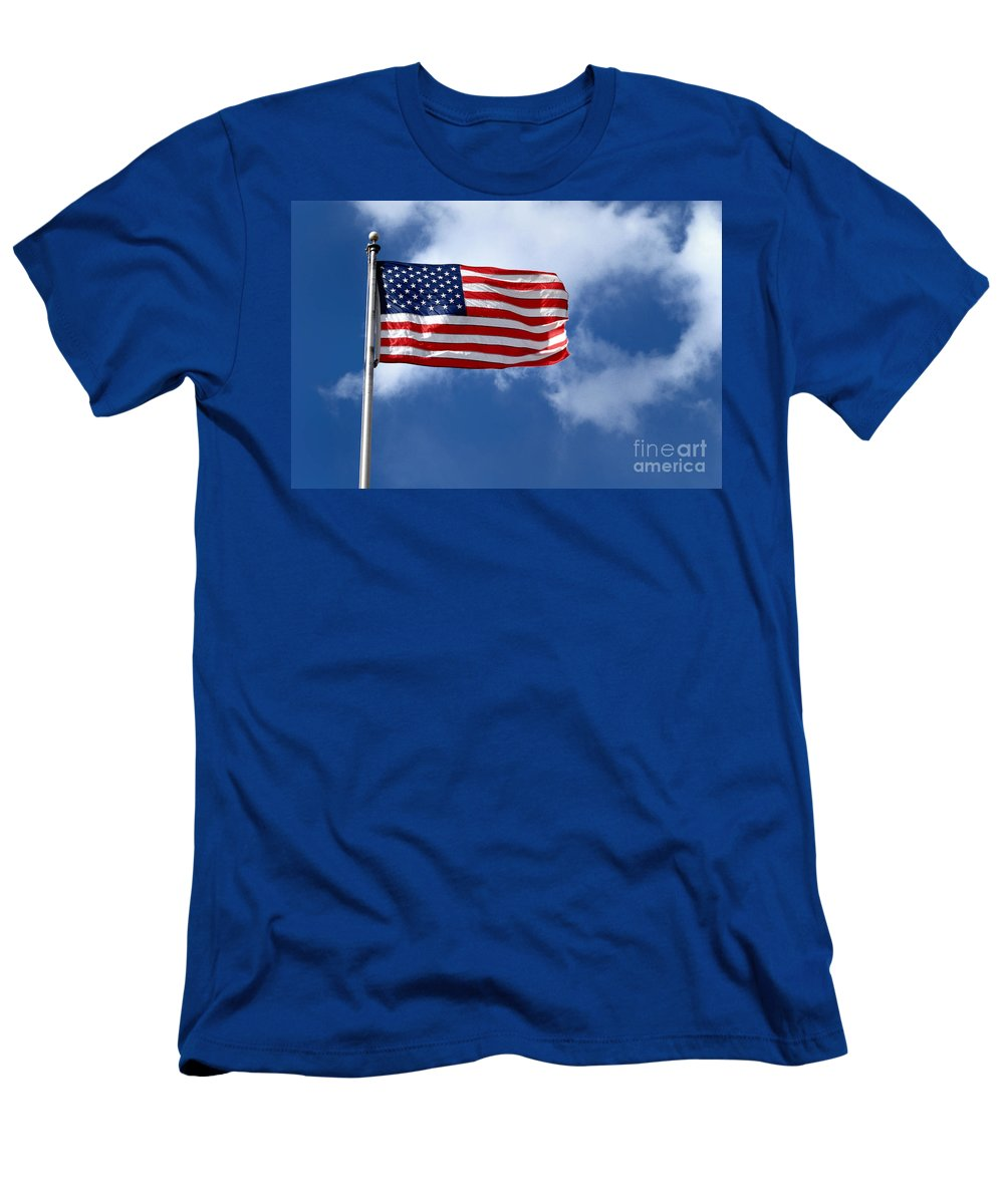 America Men's T-Shirt (Athletic Fit) featuring the photograph American Flag by Amy Cicconi