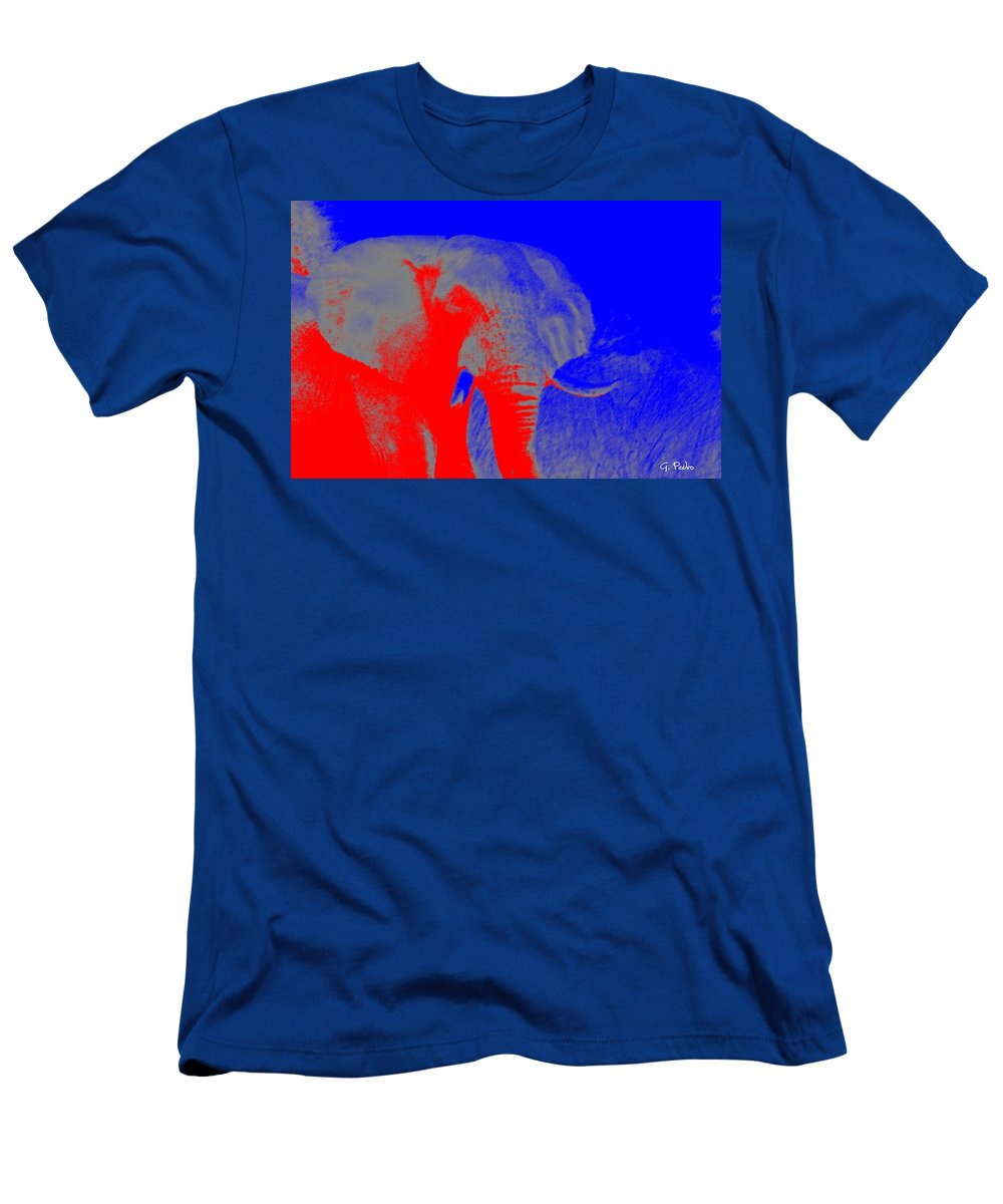 Africa Men's T-Shirt (Athletic Fit) featuring the digital art an Afternoon in Africa by George Pedro