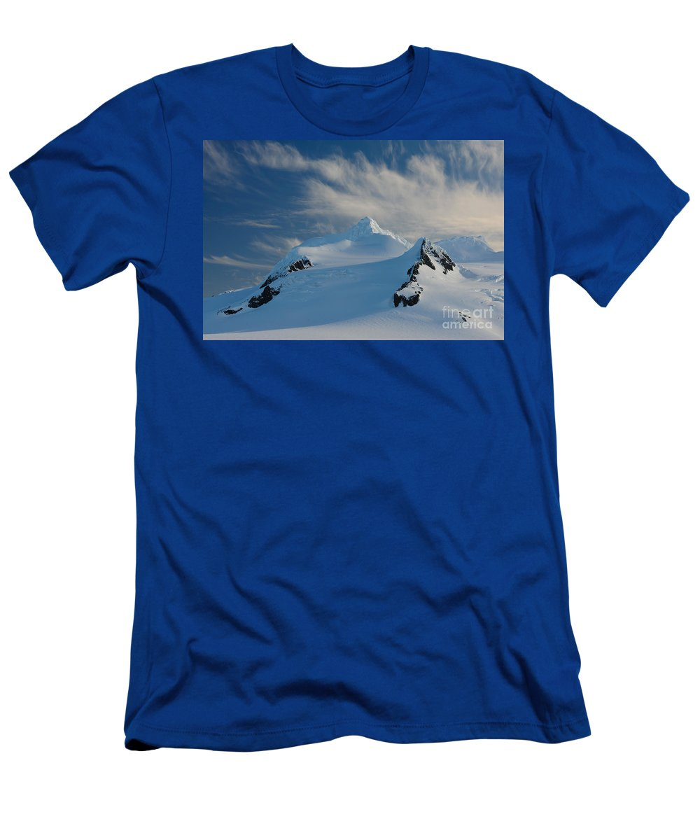 Nature Men's T-Shirt (Athletic Fit) featuring the photograph Antarctic Landscape by John Shaw