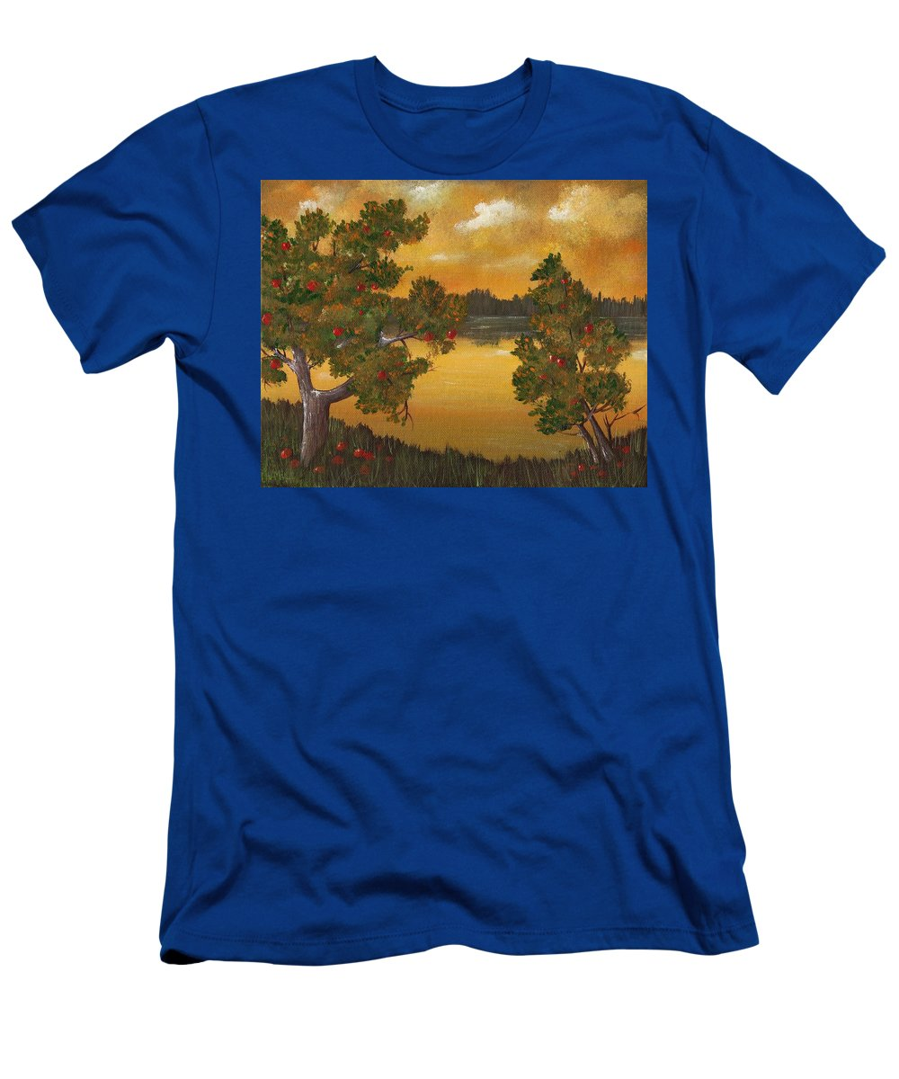 Apple T-Shirt featuring the painting Apple Sunset by Anastasiya Malakhova