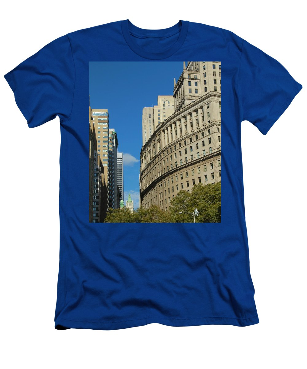 Architecture In New York City Men's T-Shirt (Athletic Fit) featuring the photograph Architecture In New York City by Dan Sproul