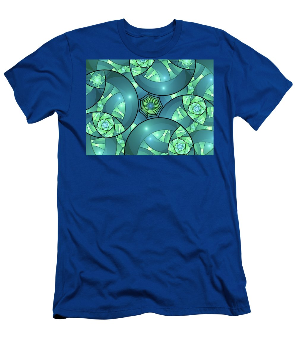 Bright Men's T-Shirt (Athletic Fit) featuring the digital art Art Deco by Gabiw Art