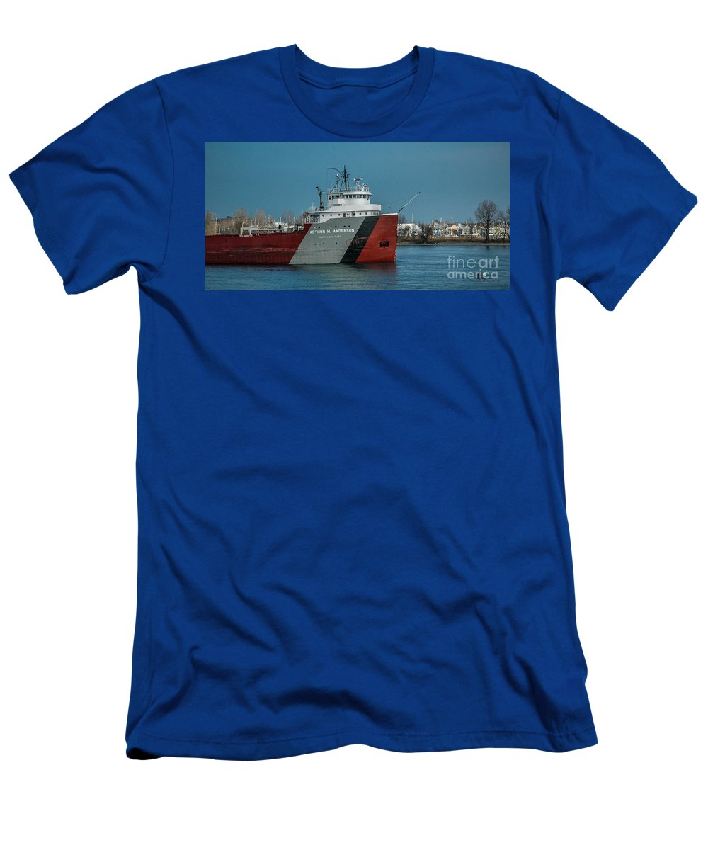Ship Men's T-Shirt (Athletic Fit) featuring the photograph Arthur M Anderson by Ronald Grogan