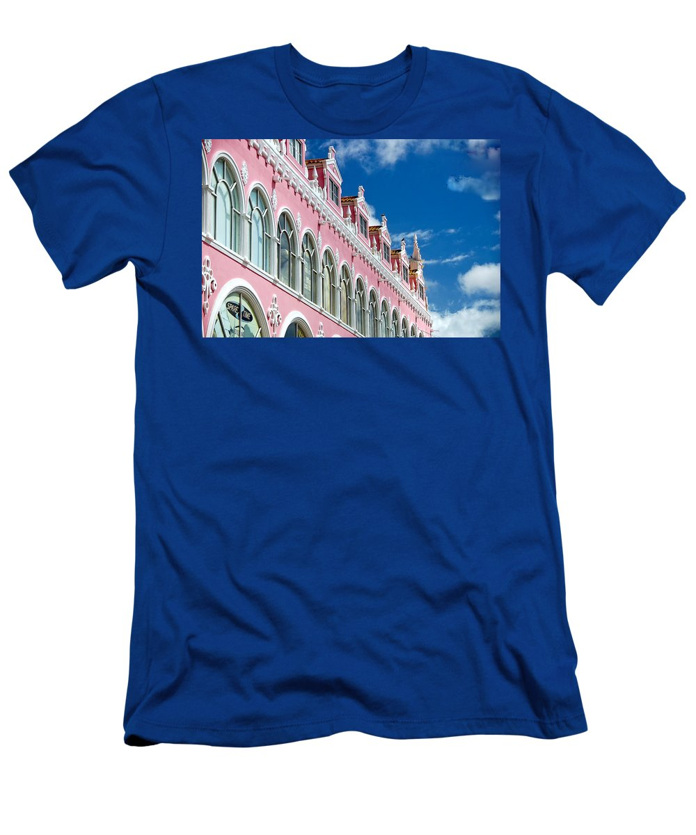 Aruba Men's T-Shirt (Athletic Fit) featuring the photograph Aruba - Royal Plaza Hotel by Jon Berghoff