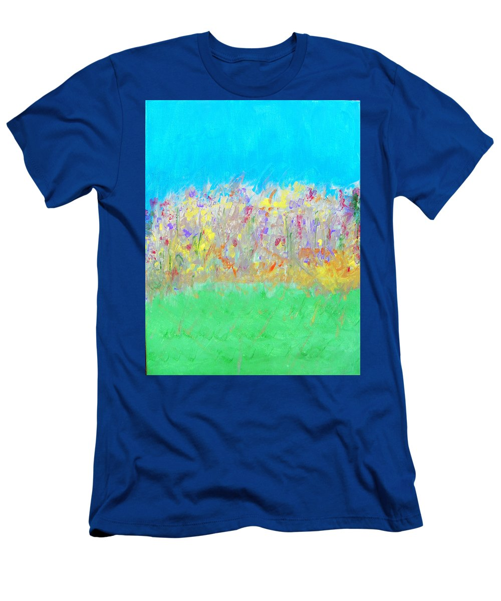 Abstract Men's T-Shirt (Athletic Fit) featuring the painting At The Edge Of The Field by Lenore Senior