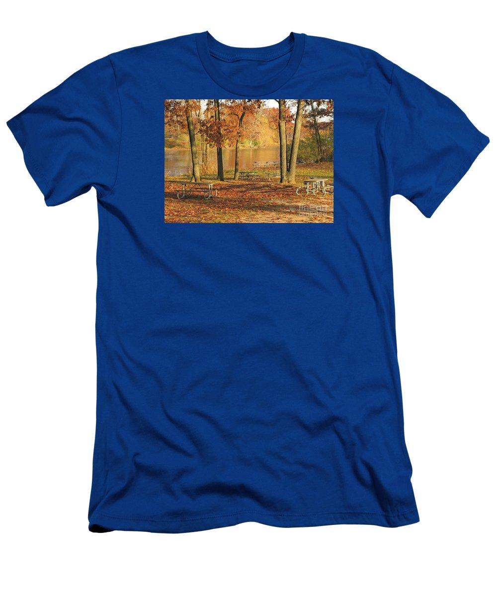 Autumn T-Shirt featuring the photograph Autumn's End by Ann Horn