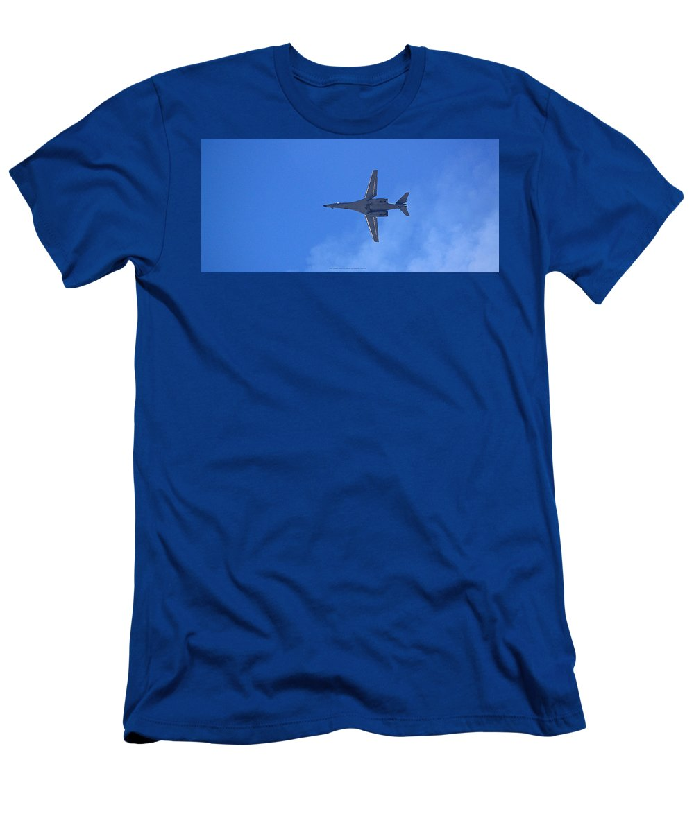 B1b Men's T-Shirt (Athletic Fit) featuring the photograph B1-b Lancer In The Skys Over Las Vegas by Carl Deaville