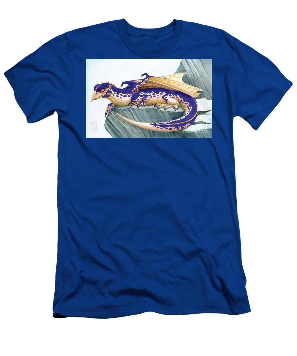 Dragon T-Shirt featuring the digital art Baby Lapis Spotted Dragon by Melissa A Benson