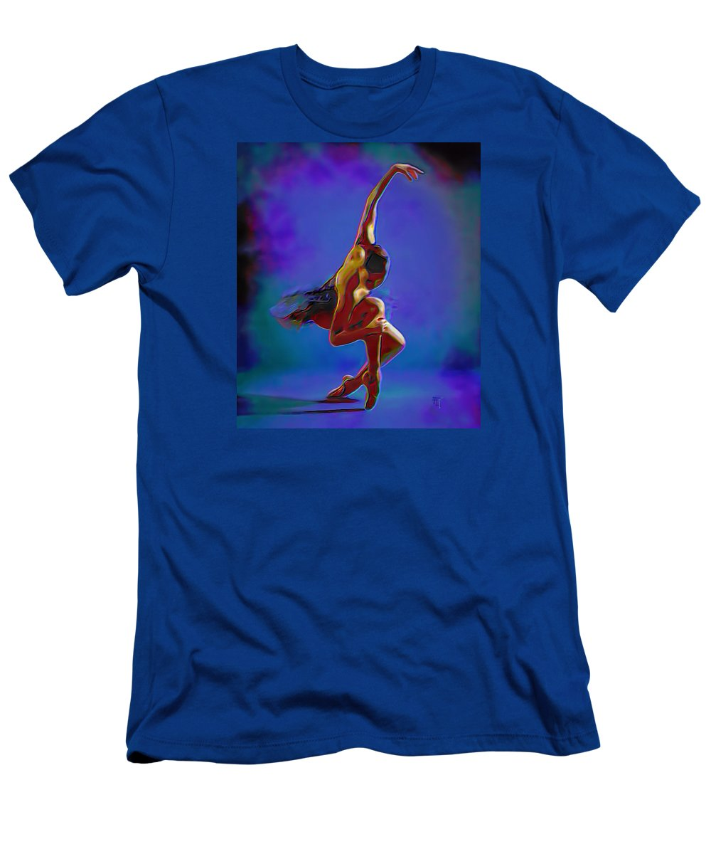 Art Men's T-Shirt (Athletic Fit) featuring the painting Ballerina On Point by Fli Art
