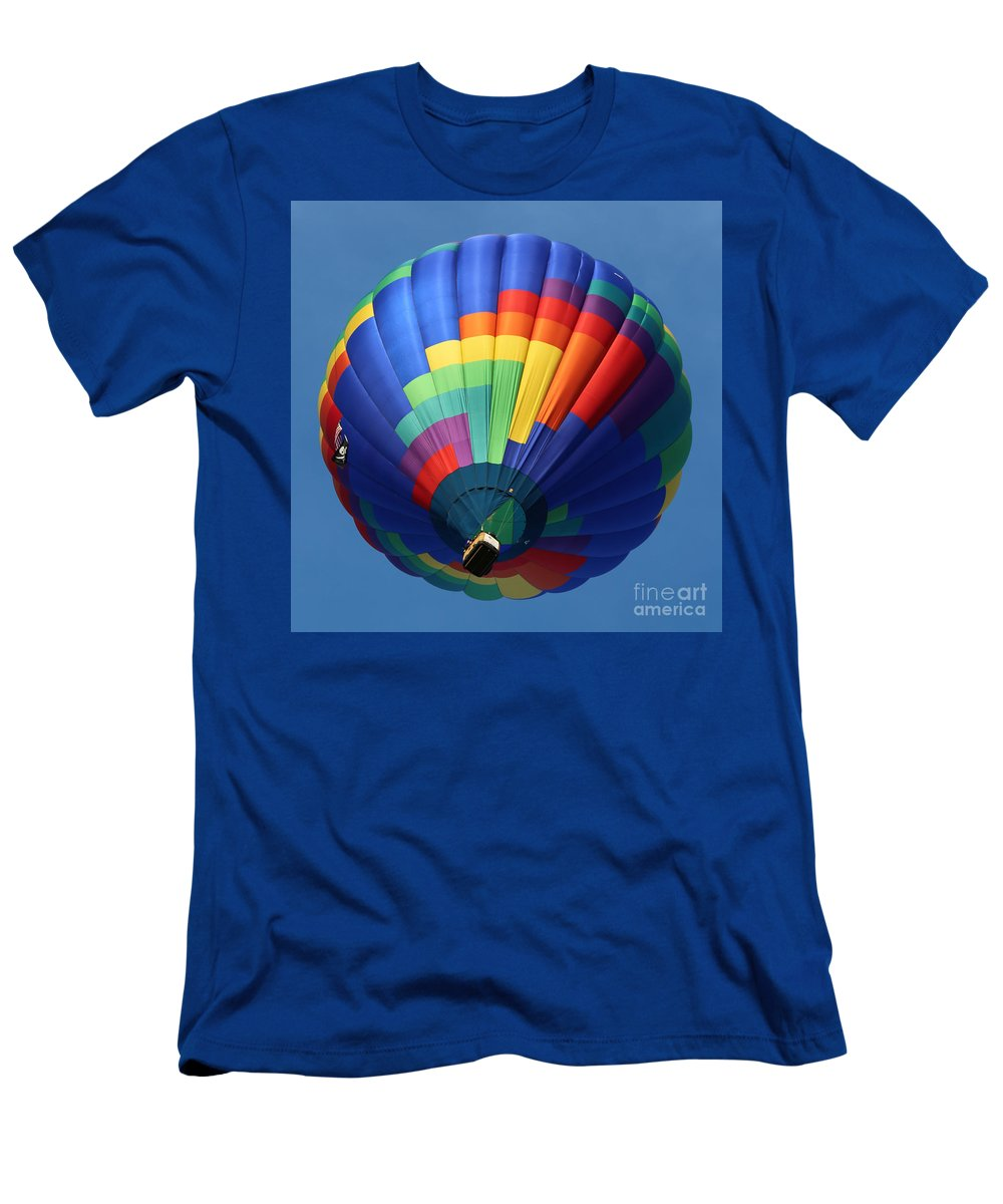 Balloon Men's T-Shirt (Athletic Fit) featuring the photograph Balloon Square 2 by Carol Groenen