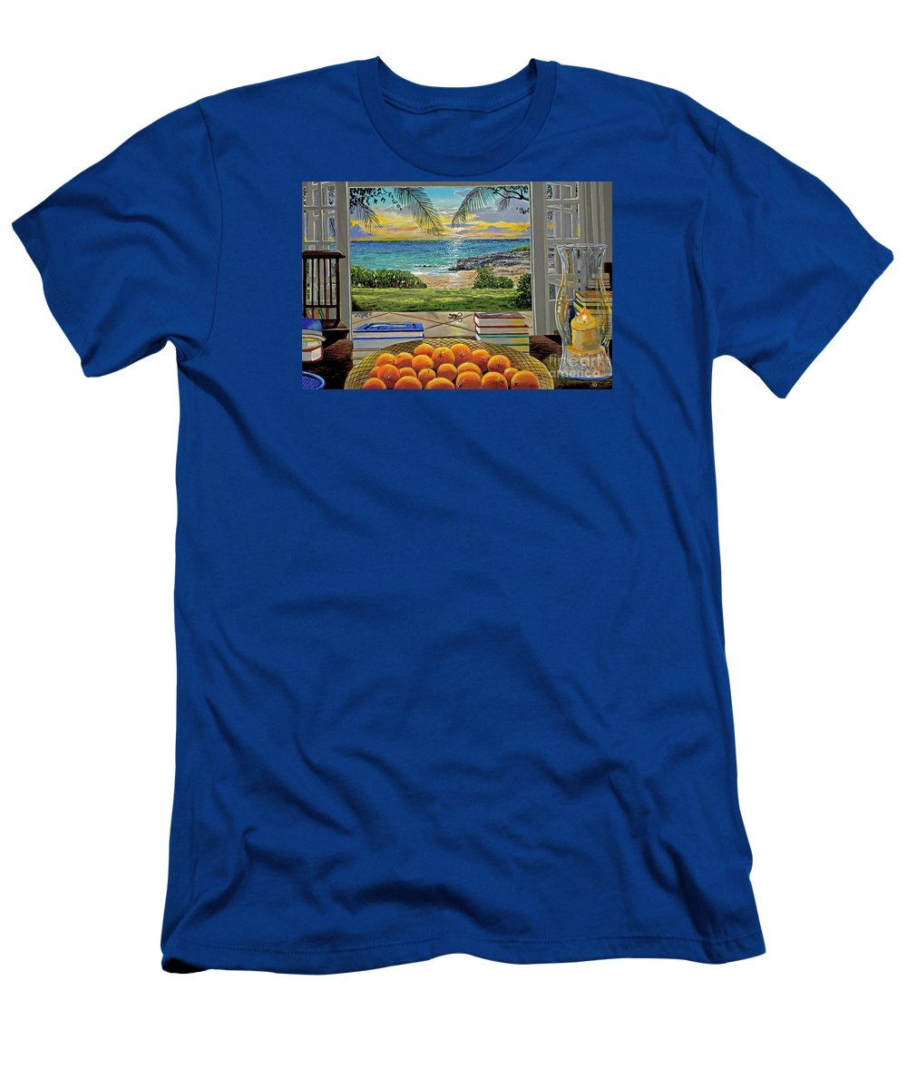 Beach T-Shirt featuring the painting Beach View by Carey Chen