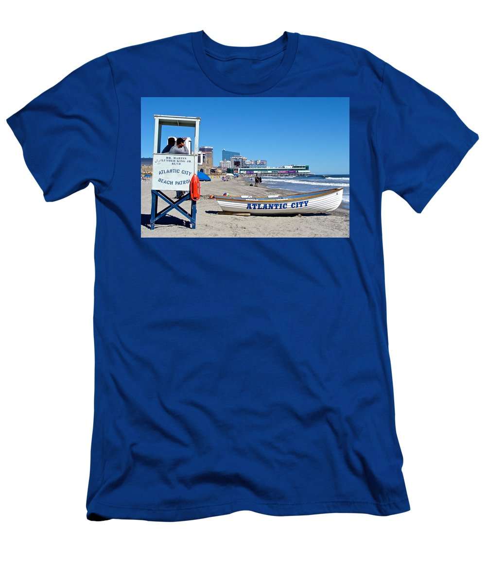 Life Guards Men's T-Shirt (Athletic Fit) featuring the photograph Best Job In The World by Ira Shander