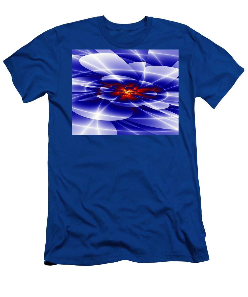 Blue Men's T-Shirt (Athletic Fit) featuring the digital art Blue by Hai Pham