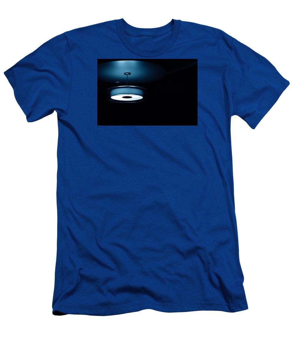 Blue Light Men's T-Shirt (Athletic Fit) featuring the photograph Blue Light by Darryl Dalton