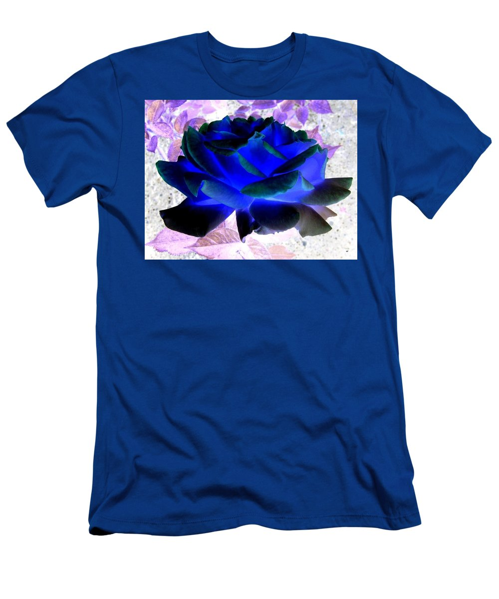 Blue Rose Men's T-Shirt (Athletic Fit) featuring the digital art Blue Rose by Will Borden