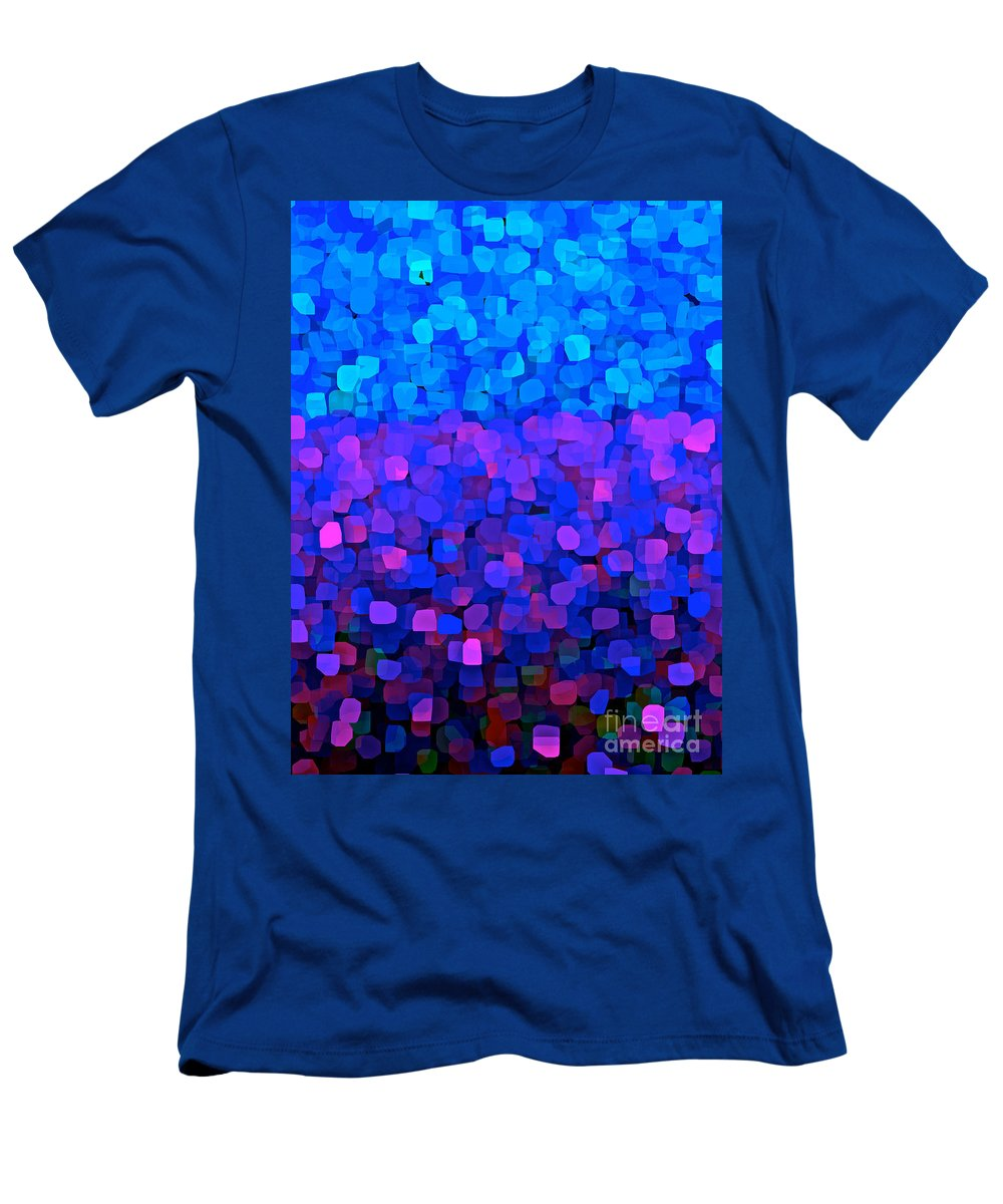 Blueberry Blue Men's T-Shirt (Athletic Fit) featuring the painting Blueberry Passion Fruit by Saundra Myles